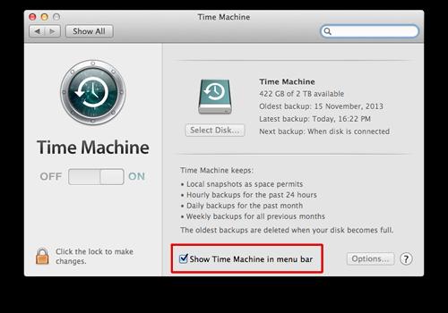 TimeMachineShowMenubar