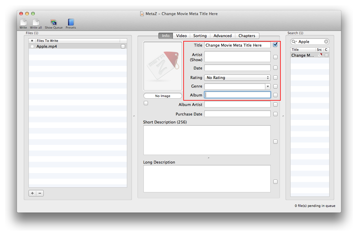 MKV and MP4 Videos Meta Tag Editors for OS X – Macriot